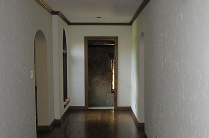 Old narrow hallway